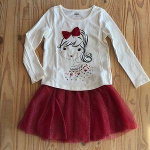 Gymboree Skirt & Shirts ❤️
